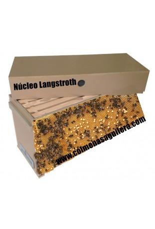núcleos con abejas Langstroth
