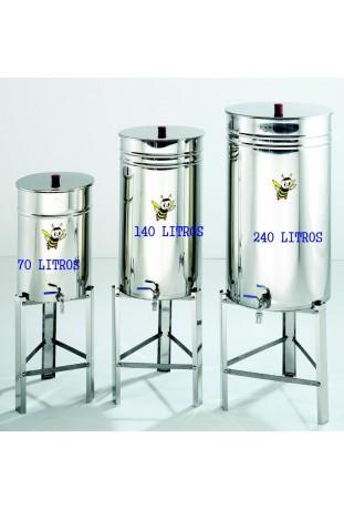 Deposito inox capacidad 140 litros.